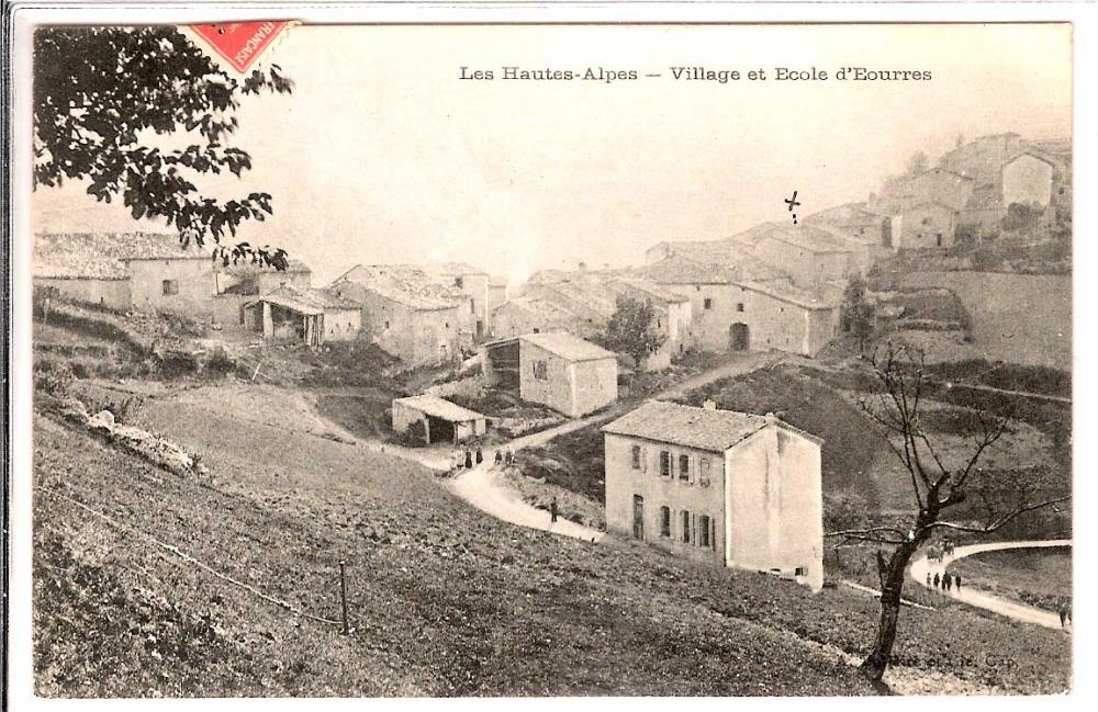 Carte postale école - eourres, village d'initiative des hautes alpes